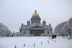 St以撒` s大教堂在圣彼得堡 免版税库存照片