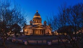 St以撒` s大教堂,圣以撒` s正方形,圣彼德堡 免版税库存图片
