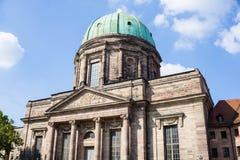 St伊丽莎白教会在纽伦堡 巴伐利亚人 德国 图库摄影