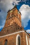 St凯瑟琳的教会(Kosciol sw. Katarzyny),最旧的教会在格但斯克,波兰 Katarzyny),最旧的churc 免版税库存图片