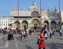 St在威尼斯意大利指示正方形 免版税图库摄影