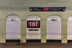 181st地铁站- NYC 免版税库存图片