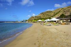 St基茨希尔,加勒比 免版税库存照片