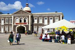 St基茨希尔,加勒比 免版税图库摄影