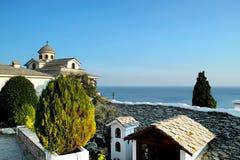 St天使迈克尔修道院在Thassos 免版税库存图片