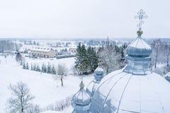 St奥尔加教会在Leisi爱沙尼亚 图库摄影