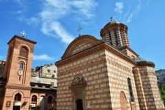 St安东教会老法院教会在布加勒斯特,罗马尼亚 图库摄影