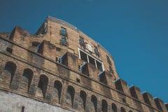 St安吉洛` s城堡降雪 免版税图库摄影
