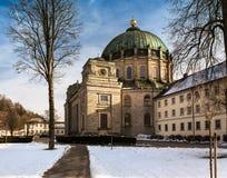 St布勒斯修道院Kloster St Blasien,黑森林在德国 免版税库存照片