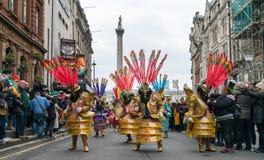 St帕特里克` s游行在伦敦 免版税库存照片