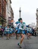 St帕特里克` s游行在伦敦 库存图片