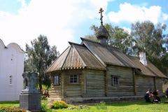 St德米特里Solunsky教会在Staraya拉多加在俄罗斯 免版税库存照片