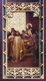 St拉迪斯劳斯派萨格勒布的第一位主教 库存图片