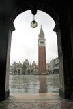 St指示正方形,威尼斯,意大利(圣马可广场) 库存照片
