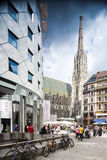 St斯蒂芬斯大教堂在维也纳,奥地利。 免版税库存图片