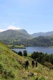 St星期天碎片,从地方的阿尔斯沃特湖落, Cumbria 免版税库存照片