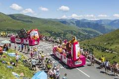 St米谢尔Madeleines有蓬卡车-环法自行车赛2014年 库存图片