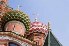 St红场的蓬蒿大教堂在莫斯科,俄罗斯 免版税库存图片