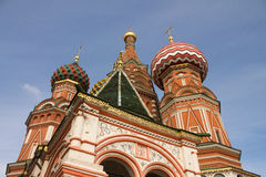St红场的蓬蒿大教堂在莫斯科,俄罗斯 免版税库存照片