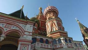 St蓬蒿` s大教堂,莫斯科,俄罗斯 修造从1555到1561按照沙皇伊凡四世的指示 股票视频