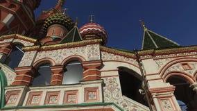 St蓬蒿` s大教堂,莫斯科,俄罗斯 修造从1555到1561按照沙皇纪念捕获的伊凡四世的指示o 影视素材