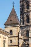 St都市钟楼塔在科希策 库存照片