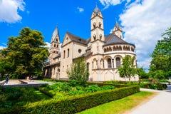 St铸工大教堂在科布伦茨 免版税库存照片