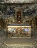 St阿佳莎` s地下墓穴,马耳他 库存照片