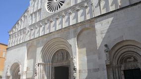 St阿纳斯塔西娅的大教堂在扎达尔,克罗地亚 影视素材