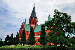 St陪替氏教会, Vastervik,瑞典 库存照片
