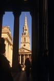 St马丁在这域&国家画廊 免版税库存照片