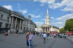 St马丁在这领域教会在伦敦-英国英国 免版税库存照片