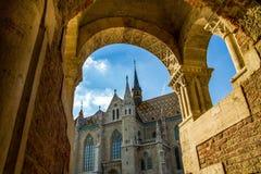 St马赛厄斯教会,布达佩斯,匈牙利 库存图片