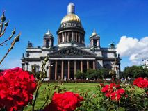 St,以撒大教堂,圣彼德堡,俄罗斯 免版税库存照片