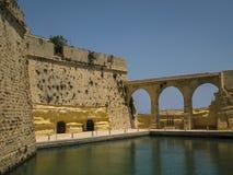 St Ángel del fuerte en Birgu, Malta Foto de archivo libre de regalías