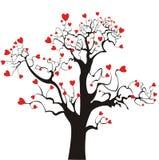 St. Árbol de amor del `s de la tarjeta del día de San Valentín Imagen de archivo libre de regalías