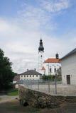 St-ärkeängel Michael Church i Branna, Jeseniky berg, tjeck arkivfoton