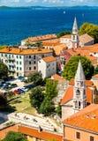 St Élijah et St Francis Churches dans Zadar, Croatie images libres de droits