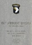 101st αερομεταφερόμενη μεραρχία Στοκ Φωτογραφία