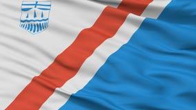 ST Αλβέρτος City Flag, Καναδάς, Αλμπέρτα, άποψη κινηματογραφήσεων σε πρώτο πλάνο διανυσματική απεικόνιση
