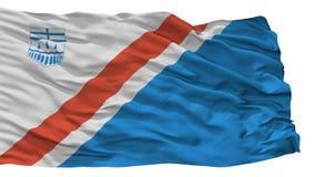 ST Αλβέρτος City Flag, Καναδάς, Αλμπέρτα, που απομονώνεται στο άσπρο υπόβαθρο Απεικόνιση αποθεμάτων