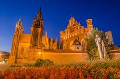 ST εκκλησίες της Anne και Bernadine σε Vilnius, Λιθουανία Στοκ εικόνα με δικαίωμα ελεύθερης χρήσης
