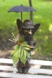 ST ΠΕΤΡΟΥΠΟΛΗ, ΡΩΣΙΑ - 17 ΑΥΓΟΎΣΤΟΥ 2016: Φωτογραφία του αγγέλου της Πετρούπολης γλυπτών στον κήπο Izmailovo Στοκ Εικόνες