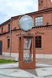 ST Πετρούπολη Ρωσία Σφαίρα εγκατάστασης στο έδαφος του κόσμου νερού μουσείων Στοκ φωτογραφία με δικαίωμα ελεύθερης χρήσης