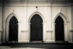 ST, πόρτες εκκλησιών του Anthony, Anjuna, Goa, Ινδία Στοκ Εικόνες