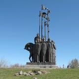 St. Александр Nevsky памятника, Псков, Россия Стоковые Фотографии RF