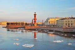 st весны petersburg острова vasilievsky Стоковое Фото