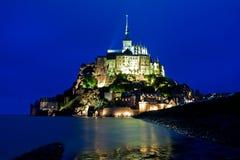 st Нормандии mont michel вечера стоковая фотография
