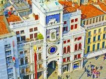 St отметит Clocktower, Венецию Стоковое Изображение RF