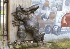 ST ПЕТЕРБУРГ, РОССИЯ - 17-ОЕ АВГУСТА 2016: Фото людоеда - характеров сказки, Волшебника страны Оз Стоковые Изображения RF